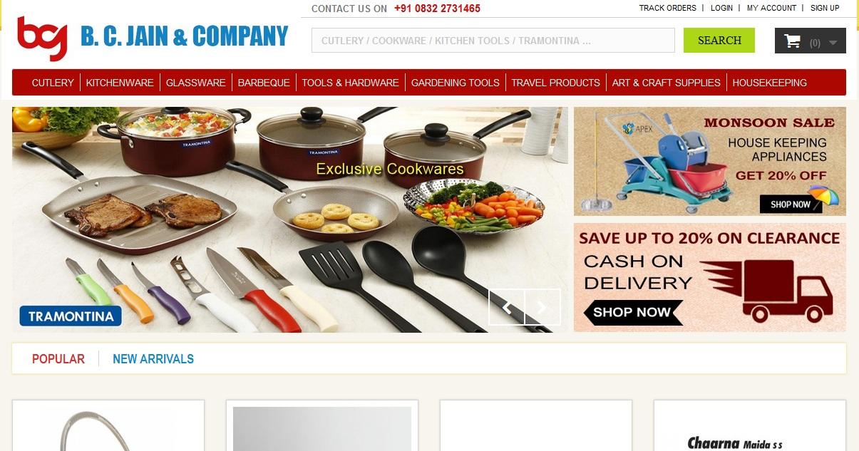 BC Jain Ecommerce Website